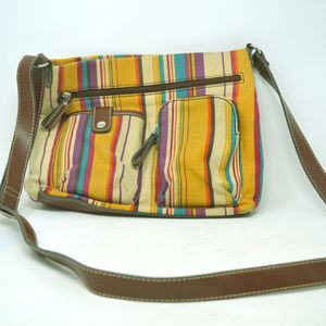 Relic Womens Striped Multi-color Shoulder Bag